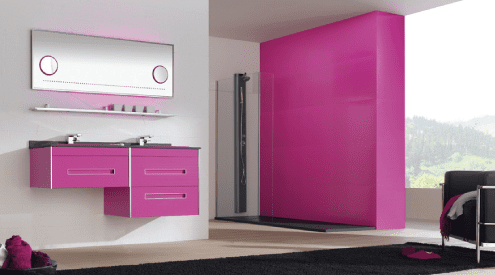 Gallery - Fiora colours pink bathroom suite
