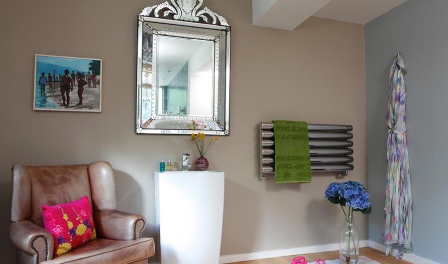 Gallery - JIS Mayfield stainless steel bathroom radiator 1100 x 470