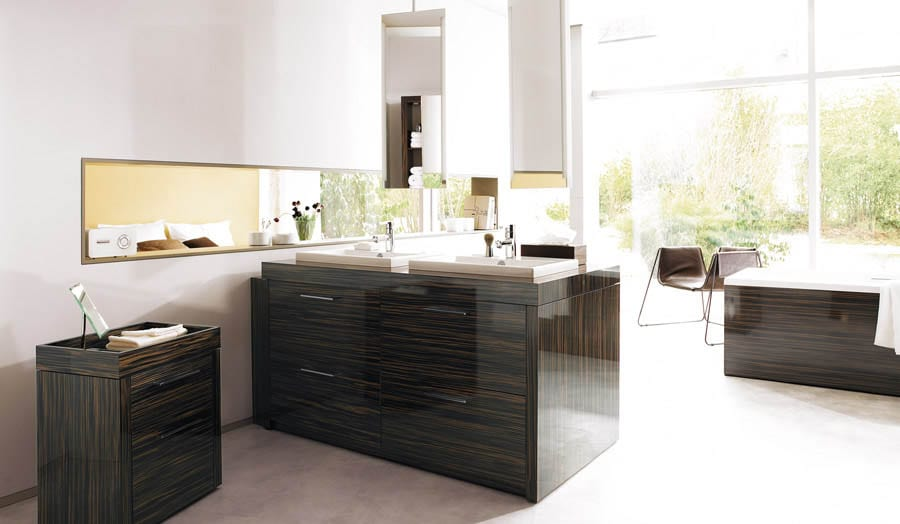 Gallery - Duravit 2nd floor contemporary bathroom suite with double wash basins