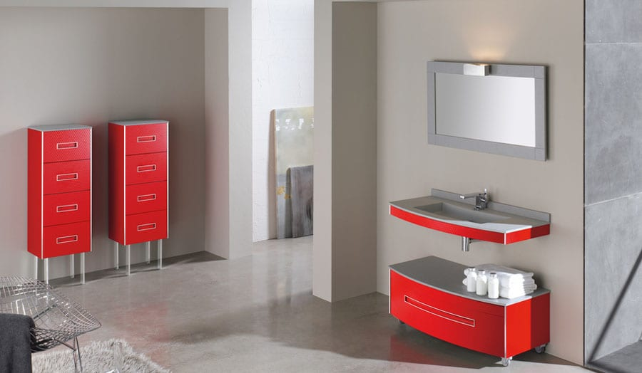 Gallery - Fiora Colours red bathroom suit