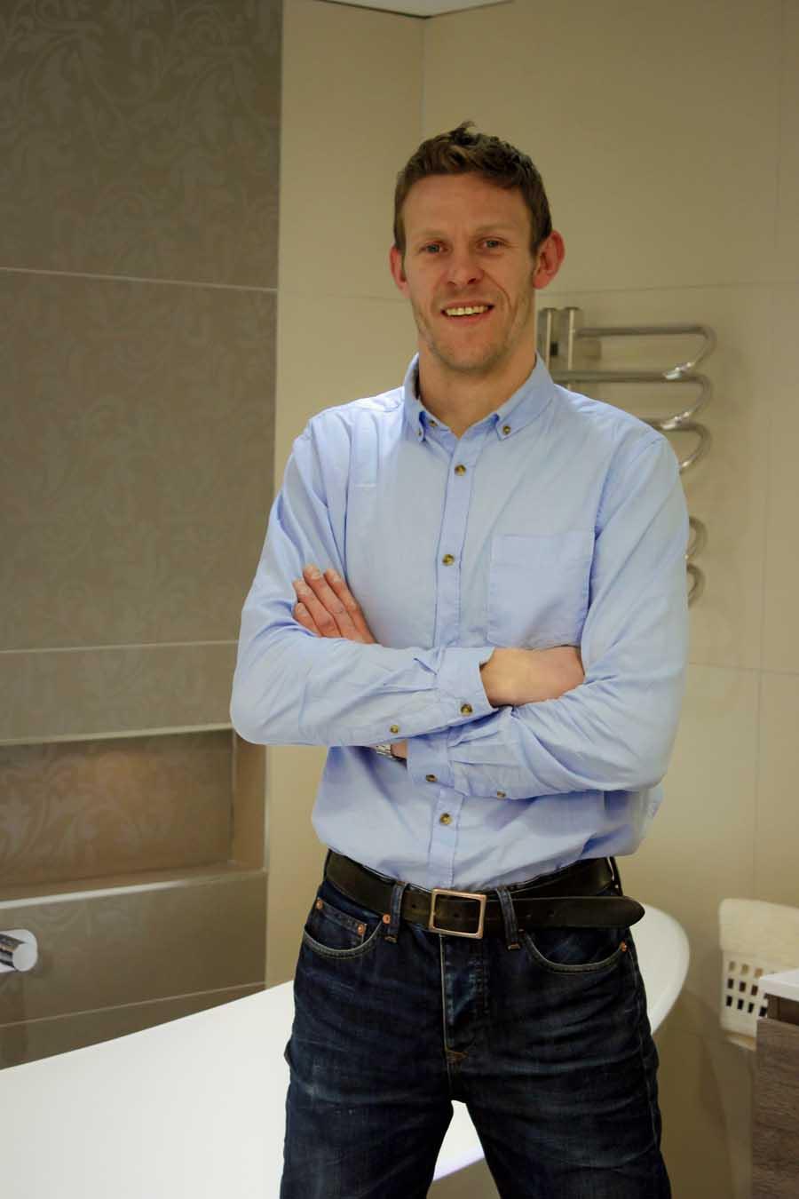 David Burgess managing director of UK Tiles Direct and Room H2o Bathrooms in Dorset