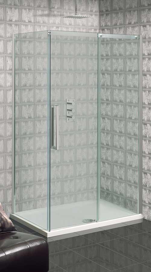 Gallery - Simpsons TEN frameless 10mm glass single sliding shower with return panel