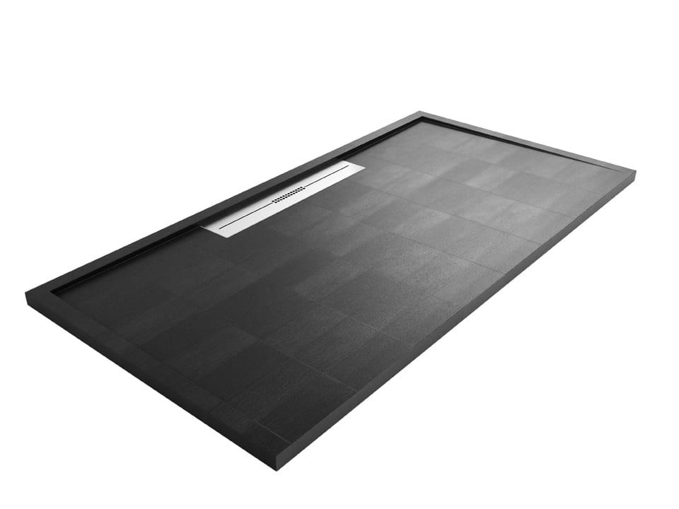 Gallery - Fiora Silex Black Low Profile Shower Tray