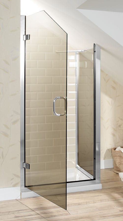 Gallery - A made to measure Simpsons Classic angled hinged shower door for a loft conversion