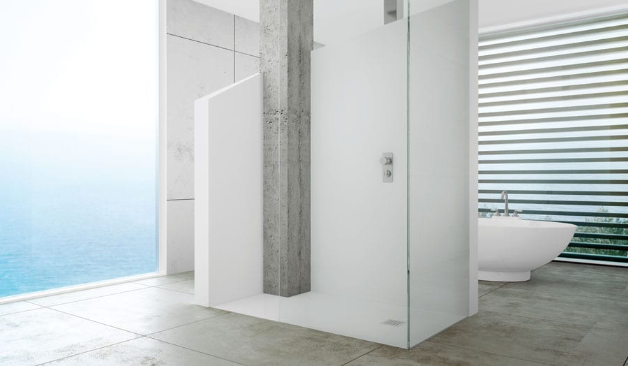 Gallery - Large wet room walk-in shower enclosure with Fiora level access shower tray
