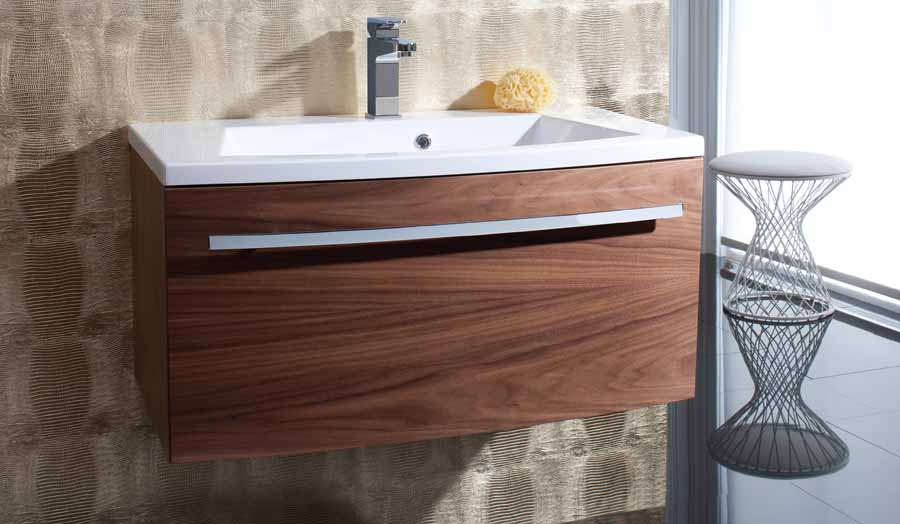 Bauhaus Stream wall hung vanity unit and large 1000mm sink