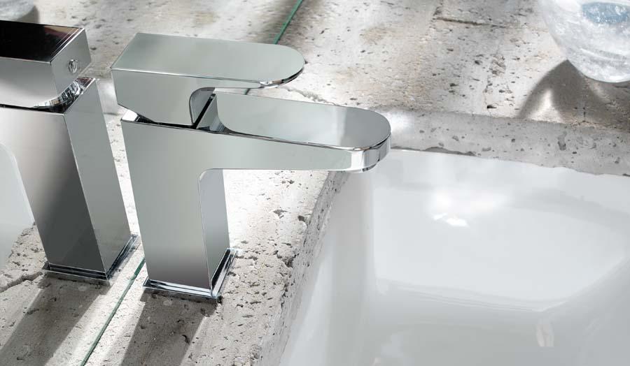 Crosswater Modest monobloc tap with Bauhaus under mount basin