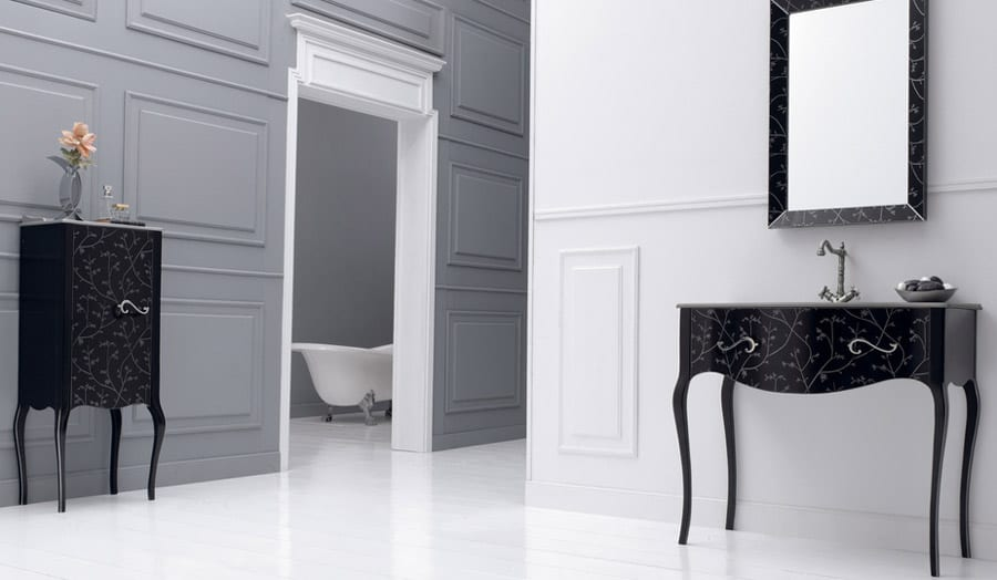 Fiora Vivaldi black classical bathroom furniture