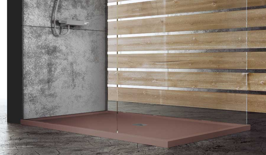 The Fiora SILEX coloured shower tray is perfect for hotel applications allowing easy access with a luxury look and feel
