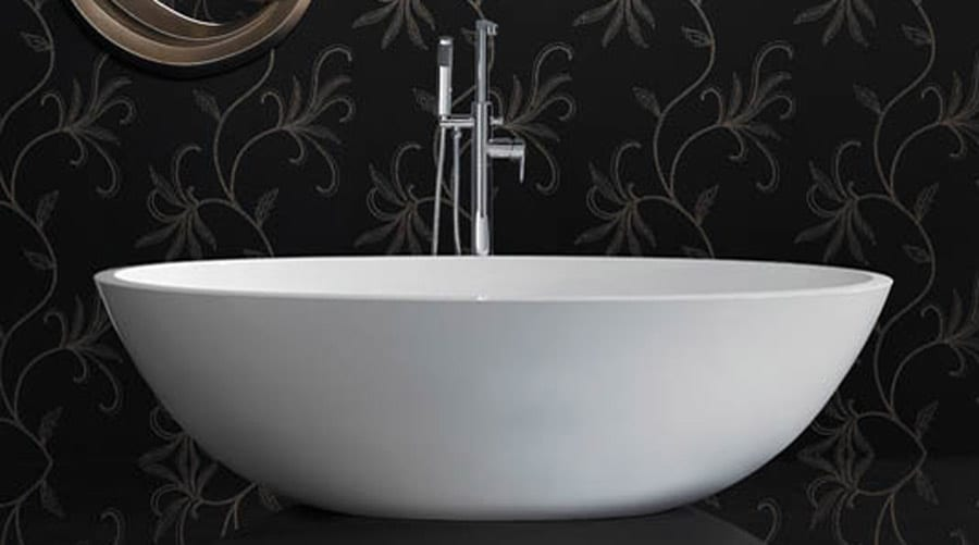 Ashton and Bentley Zeus contemporary style white luxury double ended freestanding bath