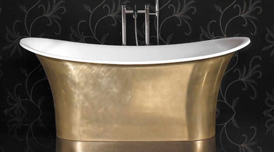 Ashton and Bentley Aegean Gold Metallic period style luxury double ended freestanding bath