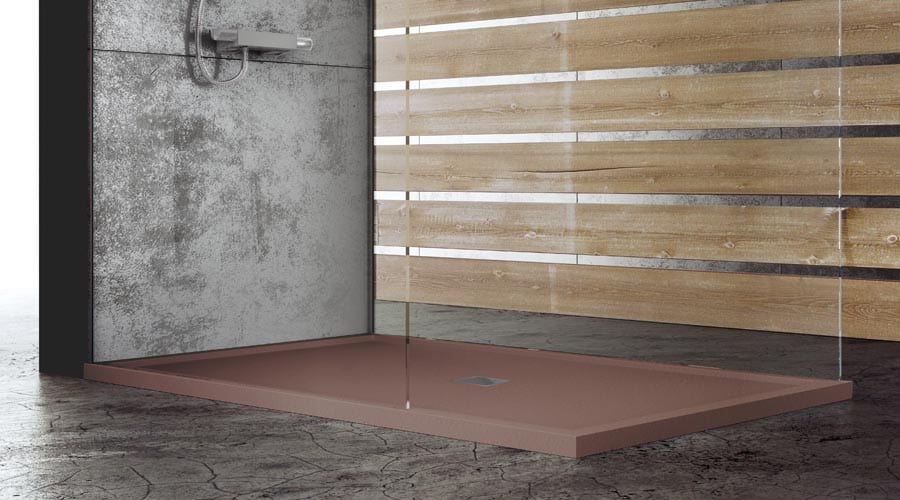 Fiora Silex low profile ultr modern coloured shower trays