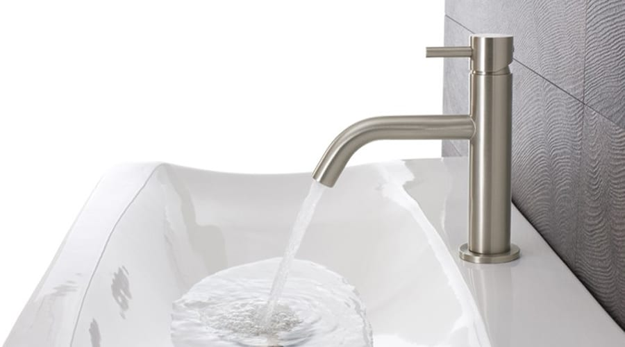 CROSSWATER MIKE PRO modern stainless steel wash basin mixer tap