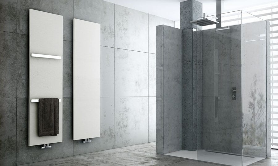 Vulcano designer bathroom radiators by fiora for Badezimmer corian