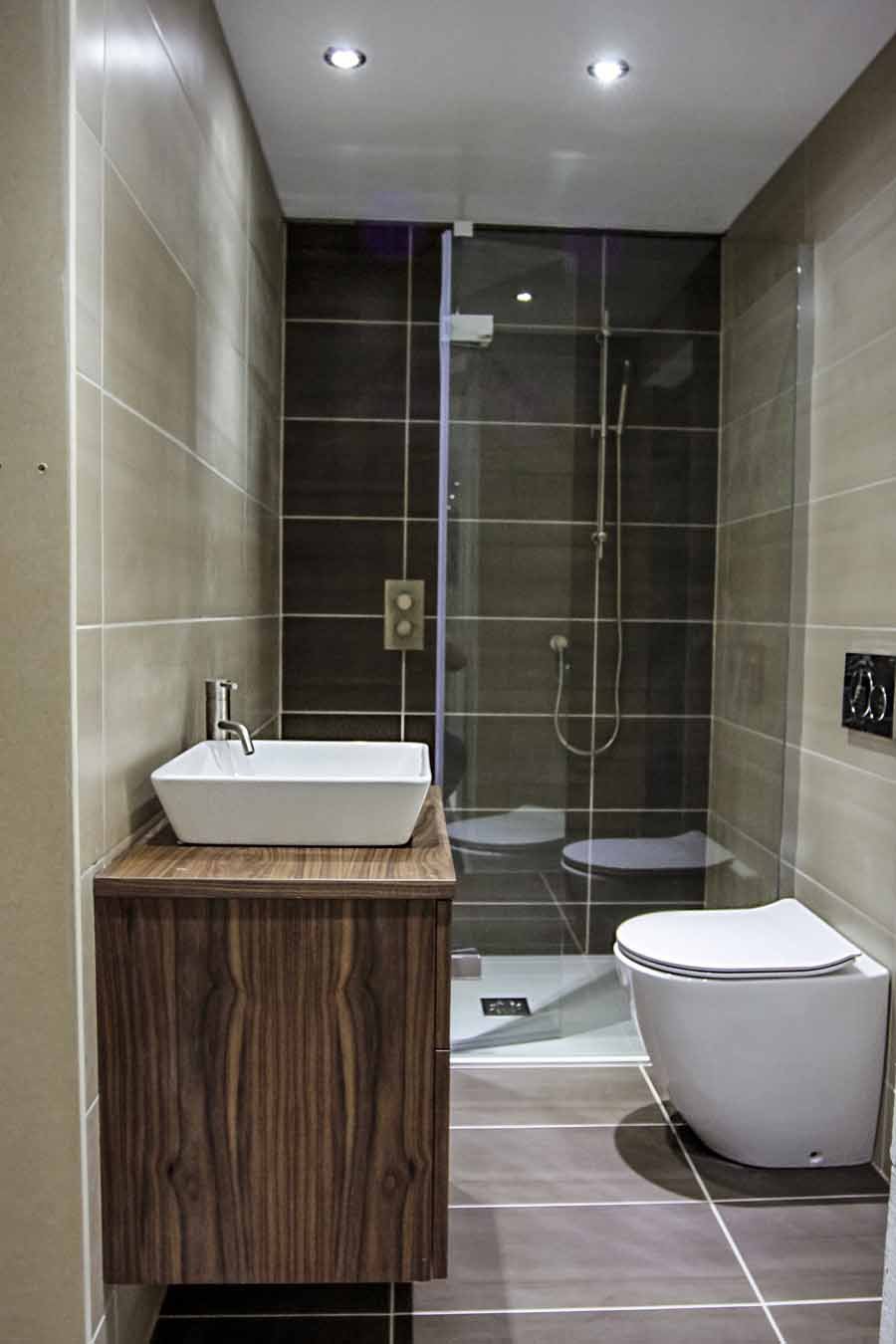 8cd48f03664 A luxury small bathroom with walkin shower enclosure on display at the Room  H2o bathroom and