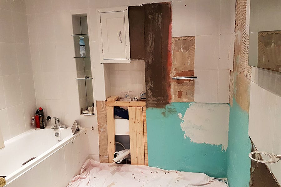 The original bathroom was stripped out to make way for the new wetroom