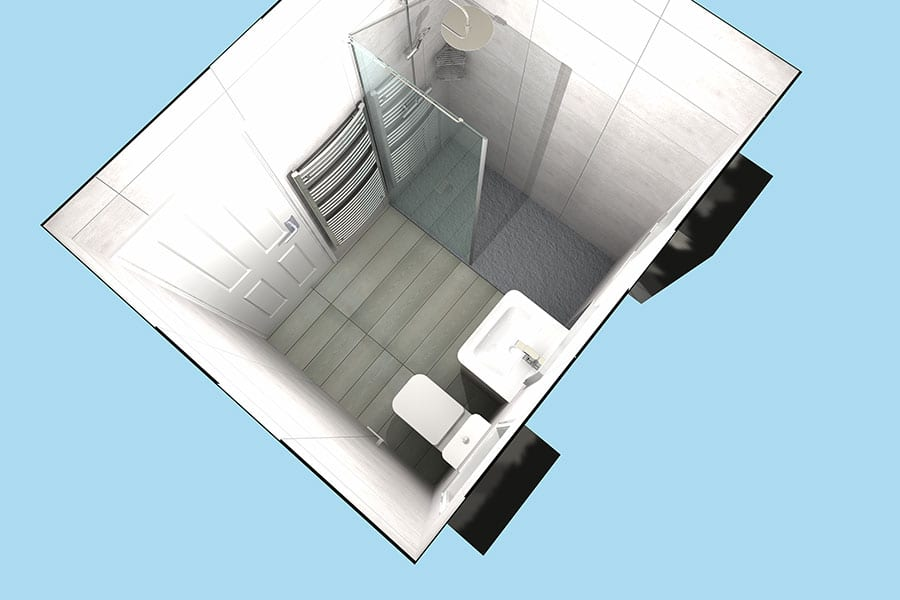3D design for easy access shower room in Swanage