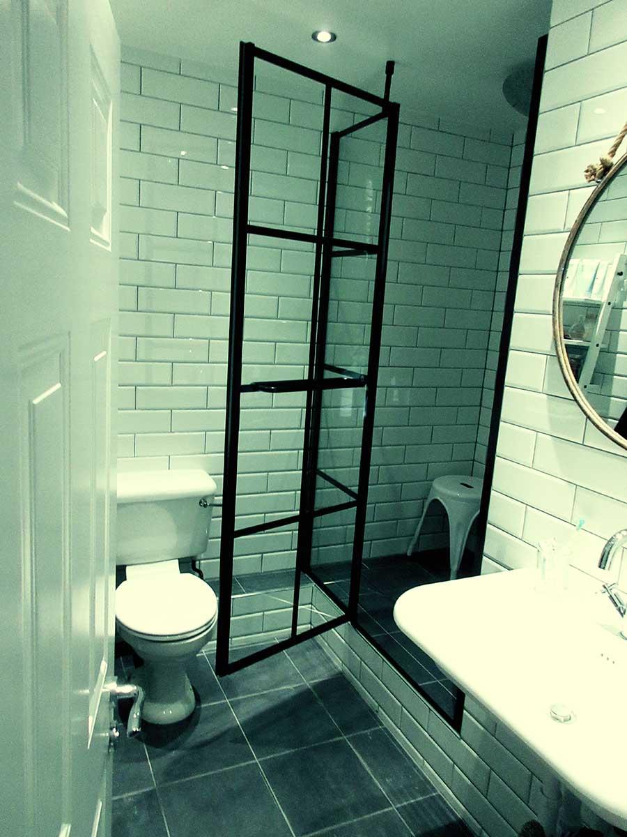 Designer Black Grid Shower Screens From Room H2o