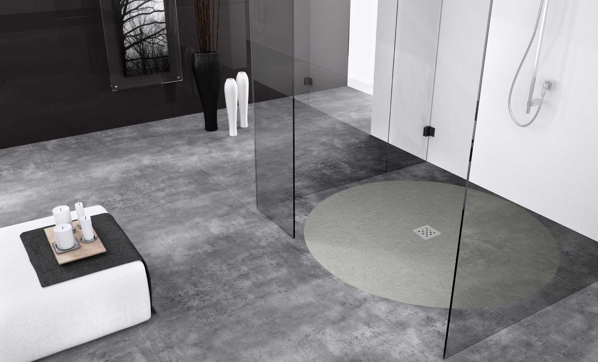 Monochrome shower enclosure