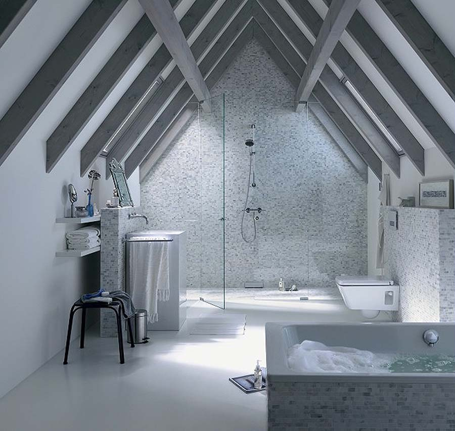 monochrome bathroom design ideas. Black Bedroom Furniture Sets. Home Design Ideas