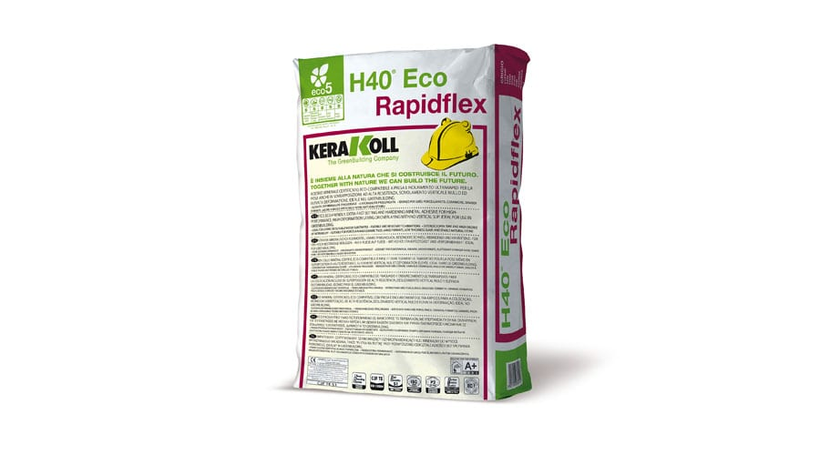 Kerakoll H40 ECO RAPIDFLEX mineral tile adhesive