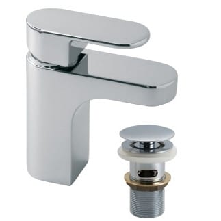 Vado Life mixer tap with pop up waste