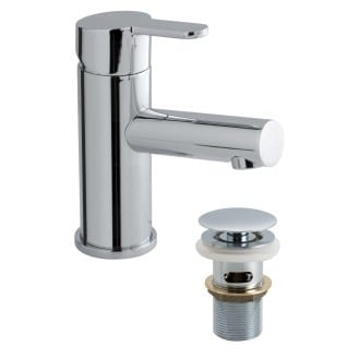 Vado Sense mixer tap with pop up waste