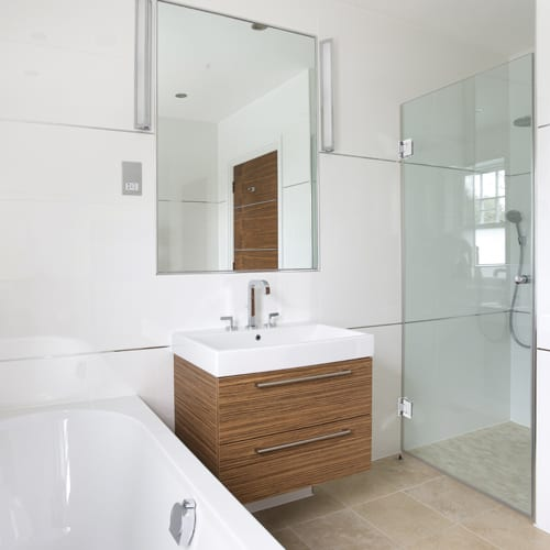 A made to measure recessed bathroom morror by Room H2o Bespoke