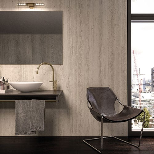 BB Nuance Platinum Travertine Effect Bathroom Wall Panels