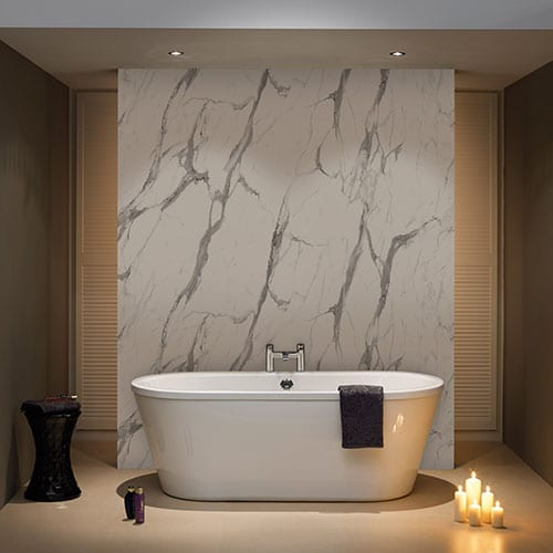 Bb Nuance Calacatta Statuario Marble Shower Panels