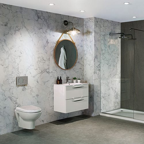 Bb Nuance Turin Marble Effect Wet Wall Panels