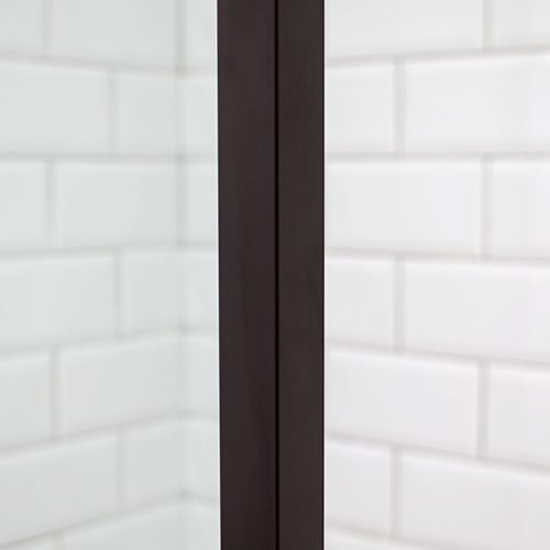 Minimalist brown shower frame by Room H2o