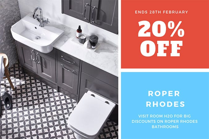 Roper Rhodes bathroom sale banner